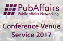 PubAffairs Conference Venue Service now available for 2017