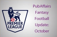 PubAffairs Fantasy Football League 2015/16: October Round-up