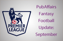 PubAffairs Fantasy Football League 2015/16: September Round-up