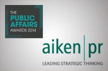 Aiken PR wins Northern Ireland accolade at Public Affairs Awards