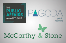 Pagoda PR and McCarthy & Stone combine for Public Affairs Awards glory