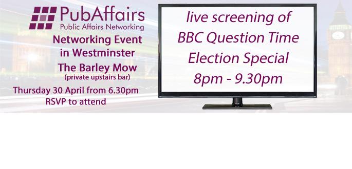PubAffairs Networking Event showing BBC QT