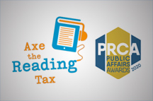 Award Showcase: Best In-House Consultancy Collaboration 2020 - Axe the Reading Tax Campaign