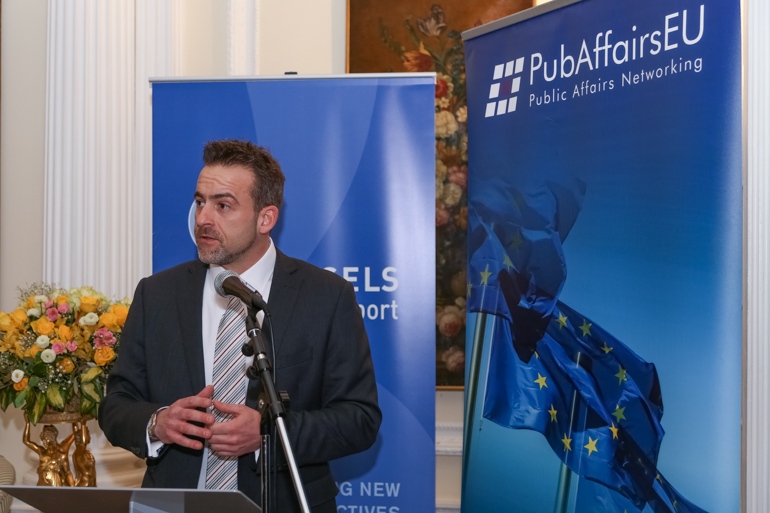 Phil Murphy, Founder and Director of PubAffairs Ltd, PubAffairs EU Networking Event, Belgian Embassy, February 2018